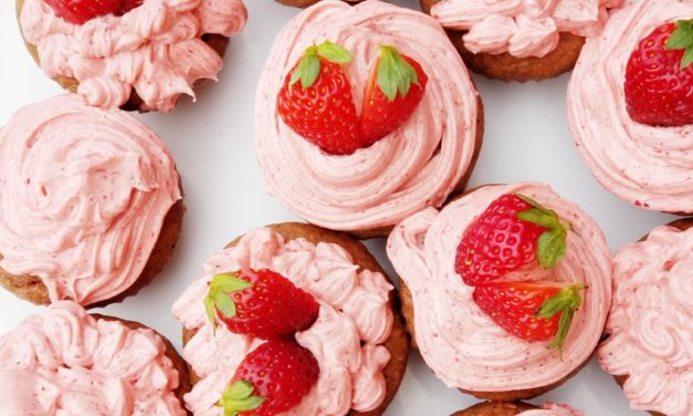 Whole Wheat Strawberry Cupcakes