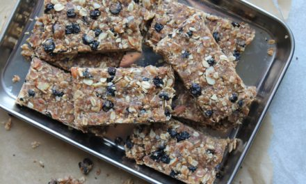 Super Man Blueberry Granola Bars