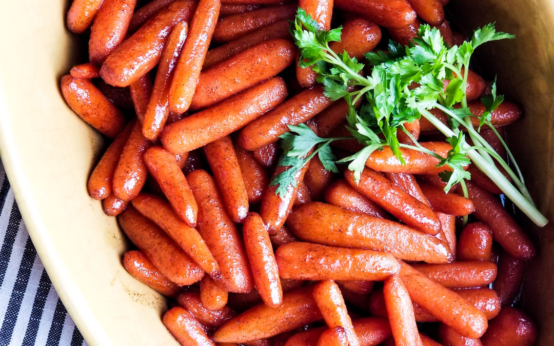 Maple Glazed Baby Carrots (+ Real Food Holiday Favorites!)