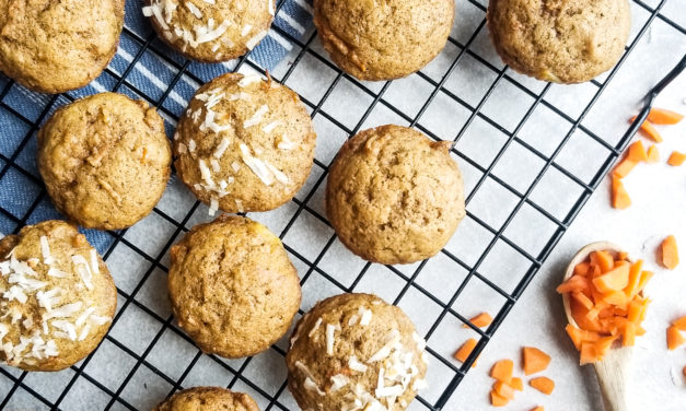 Whole Wheat Pineapple Carrot Muffins