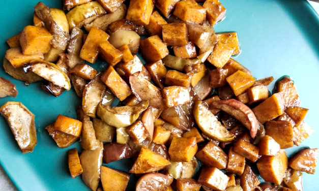 Baked Maple Cinnamon Apples And Sweet Potatoes